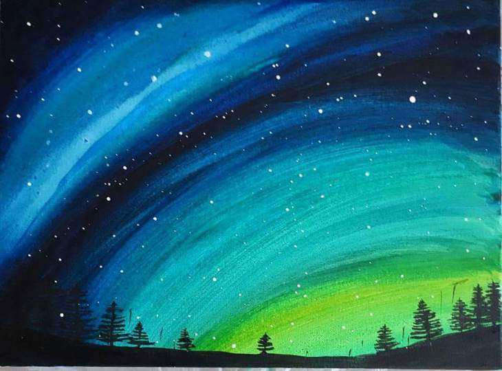 Aurora Lights painting