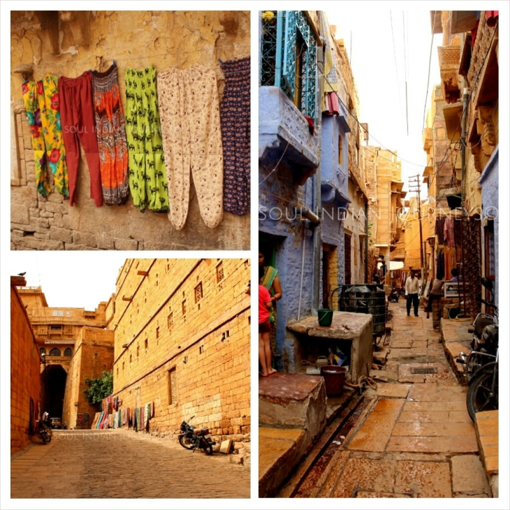 Walking inside Jaisalmer Fort