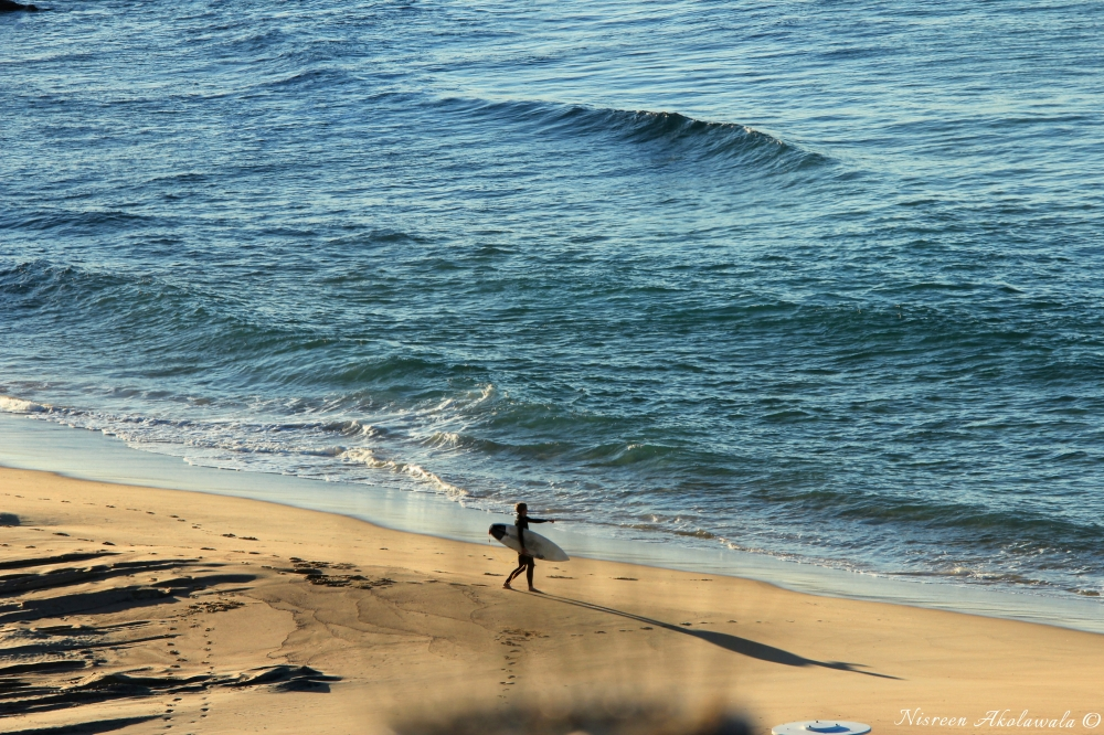 Surfer at Newcastle Beach